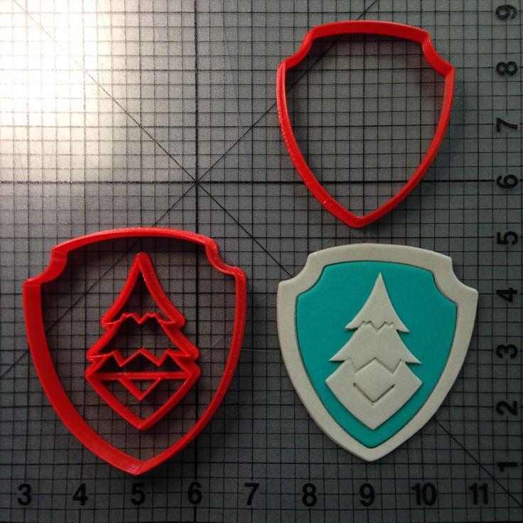 Paw Patrol- Everest Badge Cookie Cutter Set JBCookieCutters.com customizes moldings, cookie cutters, cookie cutter, cutters, cutter, silicone mold, silicone molds, stencil, stencils, baking supplies, baking