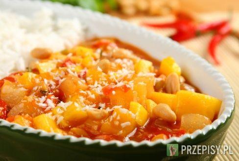 Ryż słodko-ostry z mango i kokosem  - przepis z portalu przepisy.pl