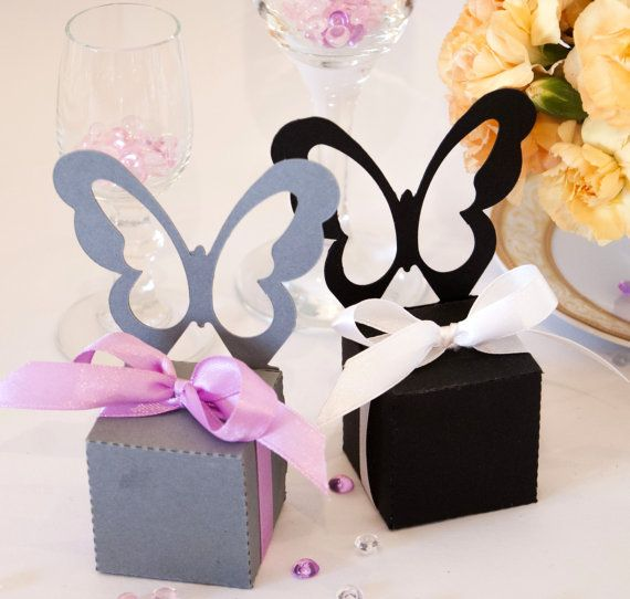Butterfly Chair Party Favors Bomboniere Box in by MartaZylaDesign, $5.00