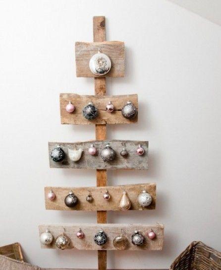 Albero di Natale da parete, fai da te