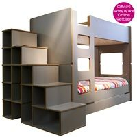 kids bunk bed with step shelves in david design mathy by bols beds designer