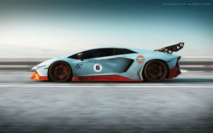 Lamborghini Aventador Gulf edition