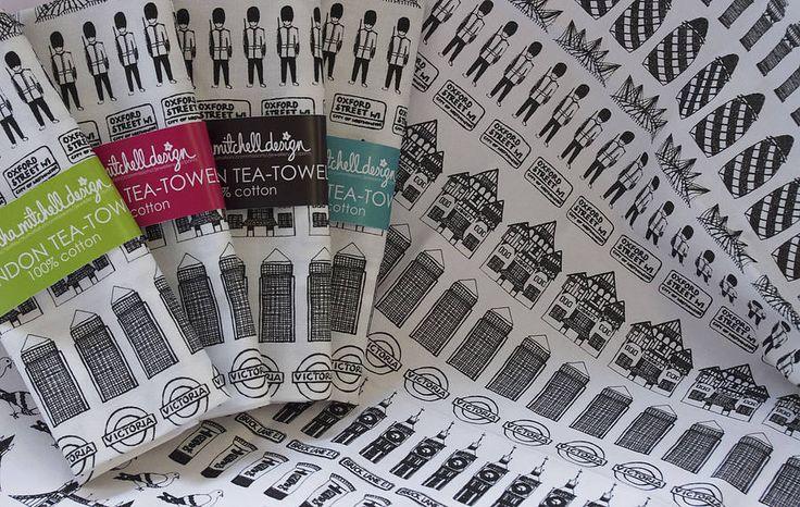 Illustrated London Tea Towel