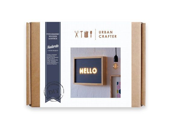 Urban Crafter Typographic Lightbox DIY Kit by UrbanCrafterDIY Packaging