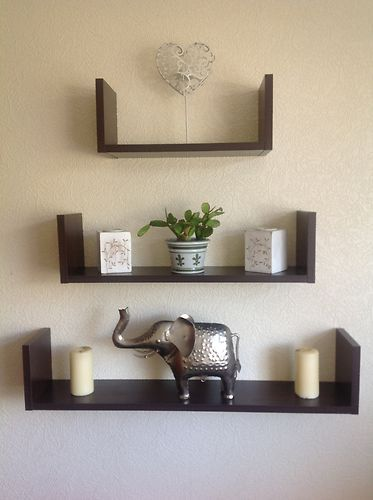 45 best floating shelves images on pinterest - Wall mounted shelving ideas ...
