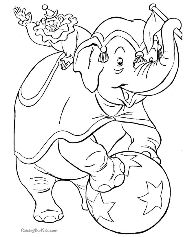 Circus elephant coloring page these free printable circus coloring sheets of circus pictures are fun for kids