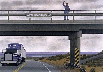 West Brooklyn Bridge by Alex Colville