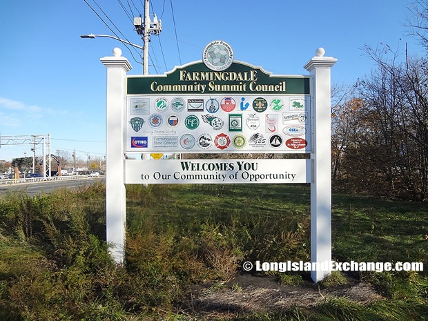 Farmingdale is a village located in Nassau County, Long Island, New York. It is in the Town of Oyster Bay. Farmingdale is also part of the name of associated unincorporated areas outside the village limits.