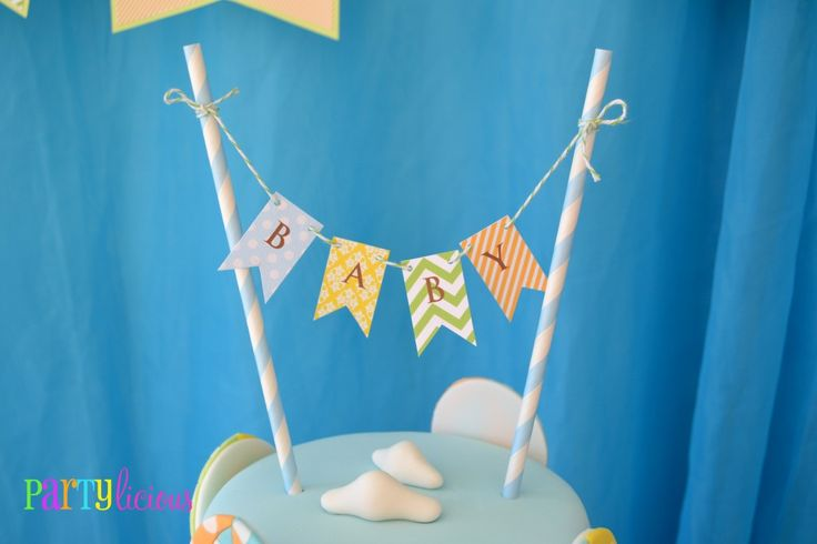 Bunting Cake TopperThemed Baby Showers, Shower Ideas, Birthday Parties, Parties Ideas, Birthday Party Ideas, Hot Air Balloons, Baby Shower Cake, Cake Toppers, Baby Shower