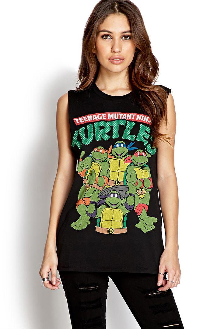 Ninja Turtles Muscle Tee | FOREVER21 Turtle power! #GraphicTee #MustHave #Cute