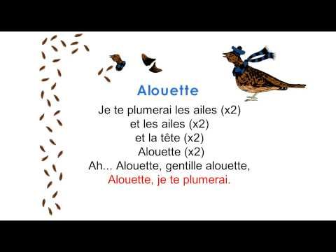 Alouette Lyrics - frenchlearner.com