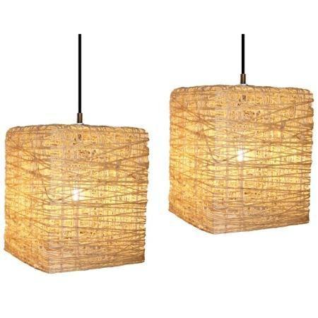 lámparas artesanales de hilo 7