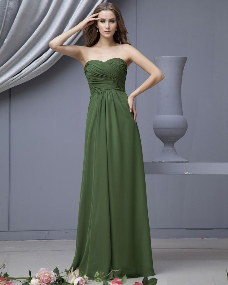 Empire Strapless Sweetheart Chiffon Bridesmaid Dress.  I like the color and style!