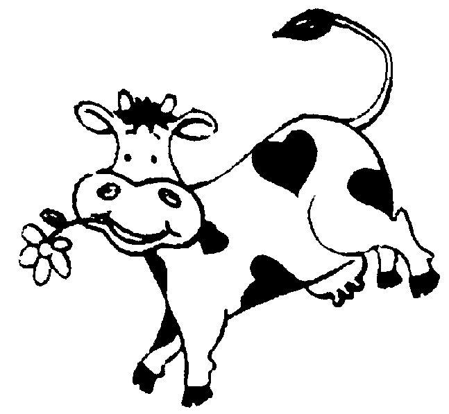 Картинки коровы черно белые, гений