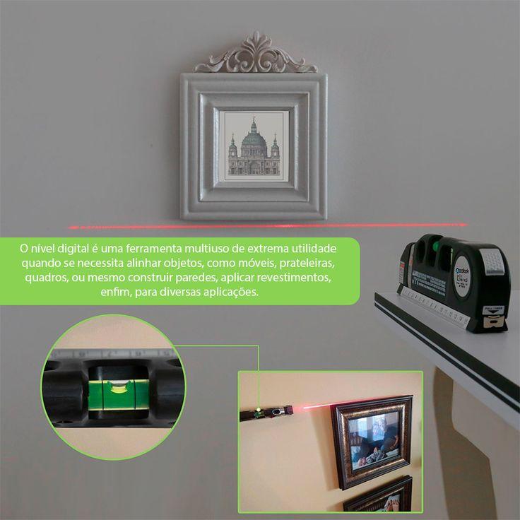 Nível Laser Profissional Trena Level Pro3 Estágios Nivelador - R$ 24,50 em Mercado Livre