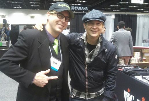 Our client John Donovan with fellow Vater Drumsticks Official Fan Page artist, Shawn Pelton of the Saturday Night Live band ~ ‪#‎PASIC14‬, ‪#‎SNL‬, ‪#‎Vater‬, ‪#‎Playmore‬, ‪#‎Paiste‬, ‪#‎Mapex‬ — with Vater Drumsticks Official Fan Page and Chad Cunningham.