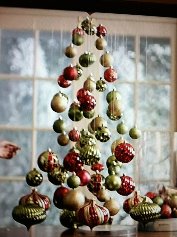 Hanging Ornaments To Make A Christmas Tree