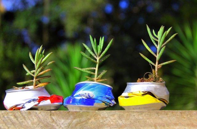 creatieve recycling van aluminium blikjes: originele ideeën om het huis te versieren zo low cost