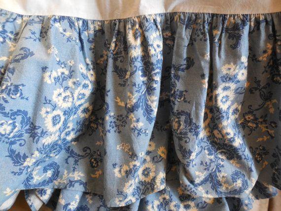 Bedskirt Full RALPH LAUREN Ruffled Asian by BeautyFromThePast