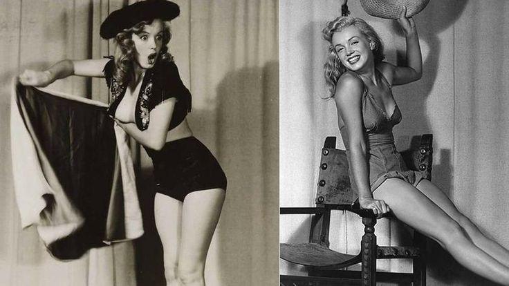 À 19 ans , Norma Jean Baker, la future Marilyn Monroe, posa pour le photographe américain Earl Moran.