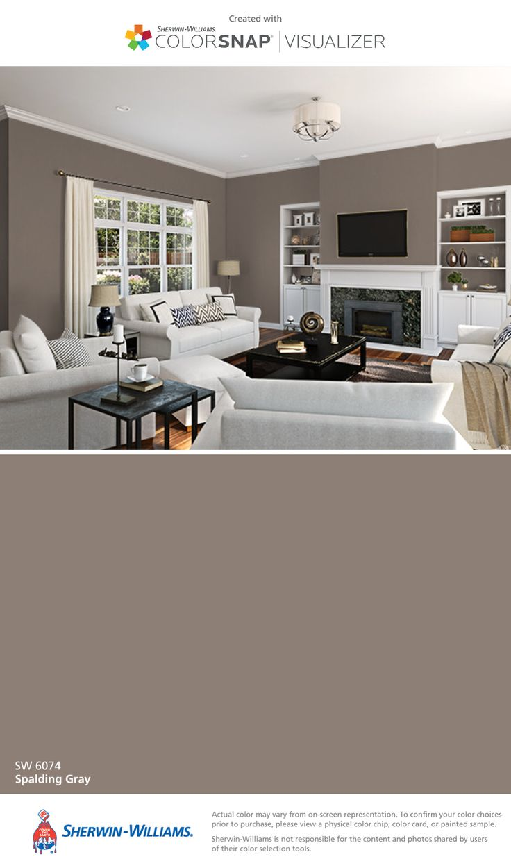 I found this color with ColorSnap® Visualizer for iPhone by Sherwin-Williams: Spalding Gray (SW 6074).