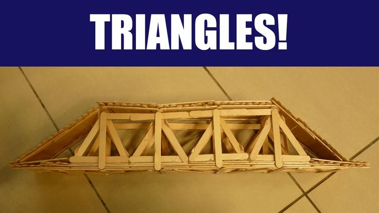 Popsicle Sticks: Building a Strong Truss Bridge with Triangles - VIDEO instuction