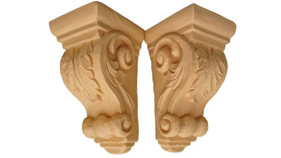 Decorative Corbels  Traditional Corbel Pair  by RenditionCasting