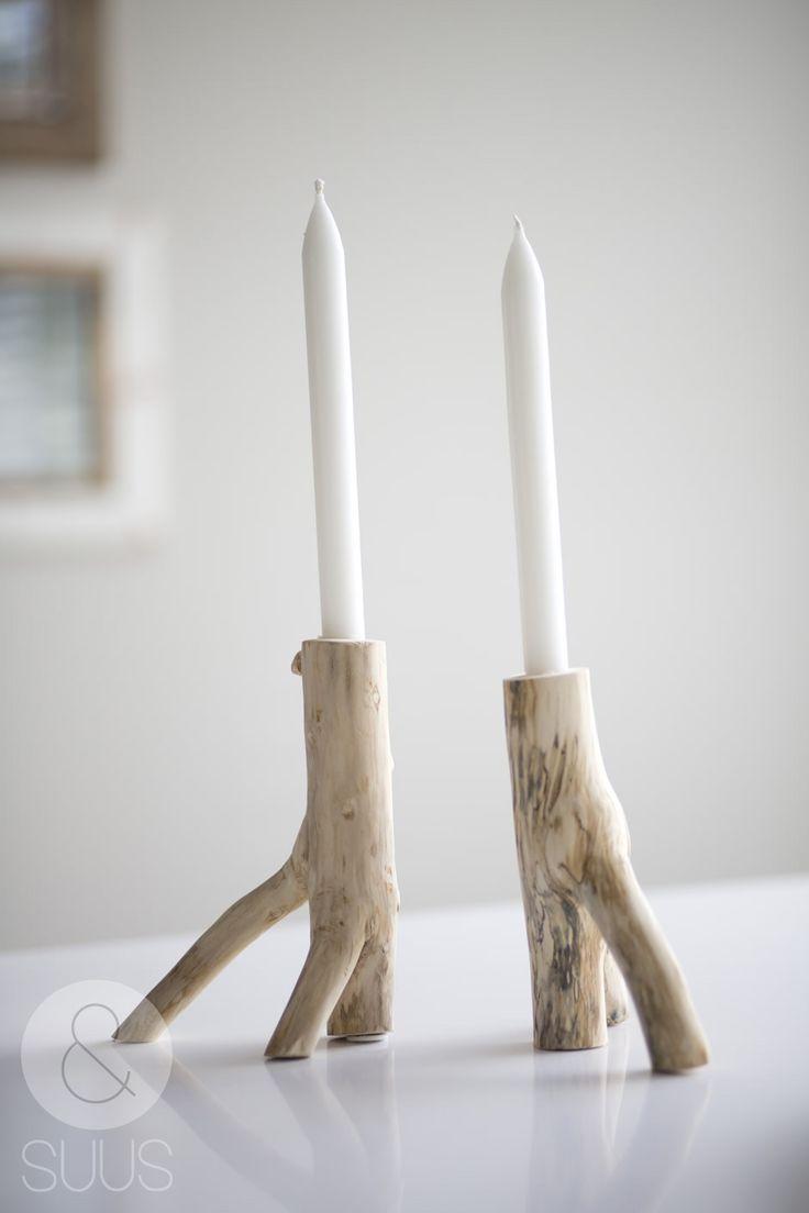 candlesticks, driftwood - ensuus