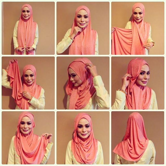 Tutorial Hijab By Mayra Hijab: Tutorial Hijab Modern Simpel sesuai Jenis Kain