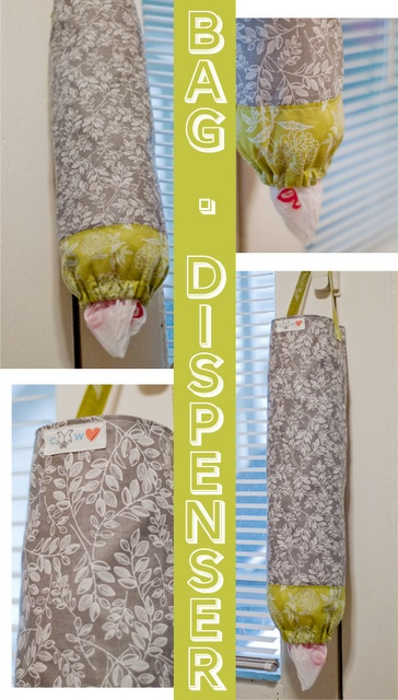 diy plastic grocery bag dispenser by cold hands warm heart. Pinning this for the pattern. Would prefer neutral colors/pattern