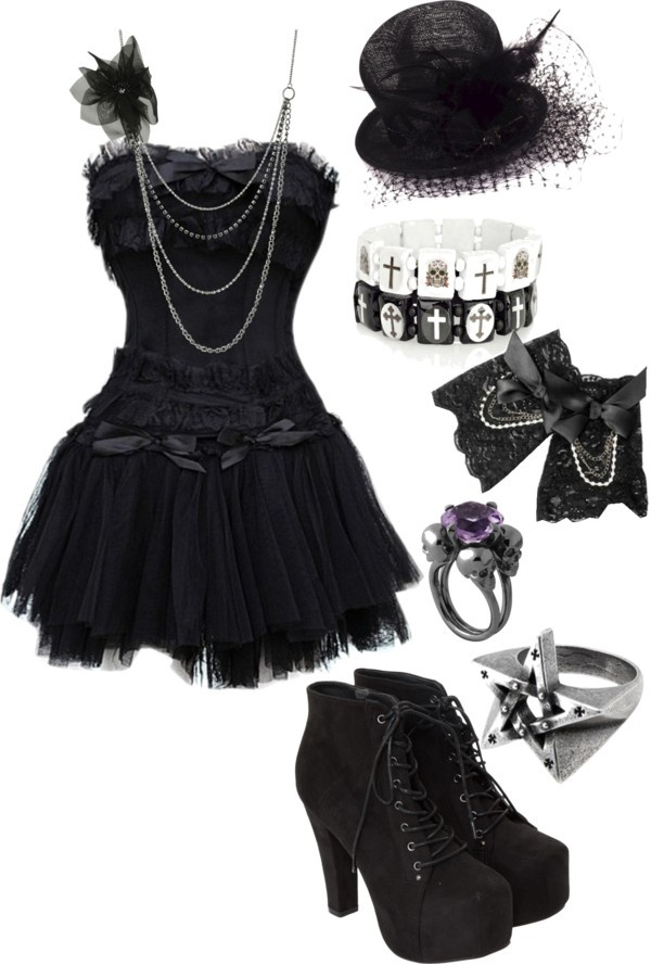 """Untitled #538"" by bvb3666 ❤ liked on Polyvore I don't like the bracelets though…"