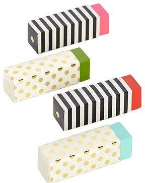 Kate Spade Eraser Set contemporary-desk-accessories