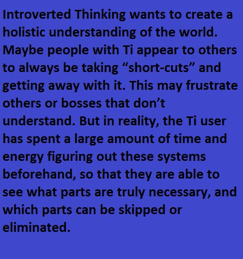 Infj's 3rd function is introverted thinking (Ti).