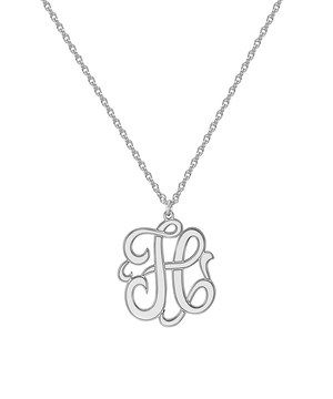Sterling Silver Medium Single Initial Pendant Necklace by POSH Mommy #zulily #zulilyfinds