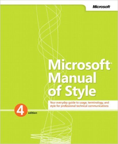 Terminology in the Microsoft Manual of Style for technical communicators