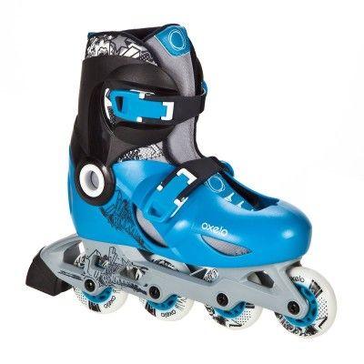 GLISSE URBAINE Trottinette, skate, roller... - roller PLAY 5 bleu noir OXELO - Rollers