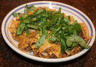 Tagliatelle met gehakt-champignonsaus