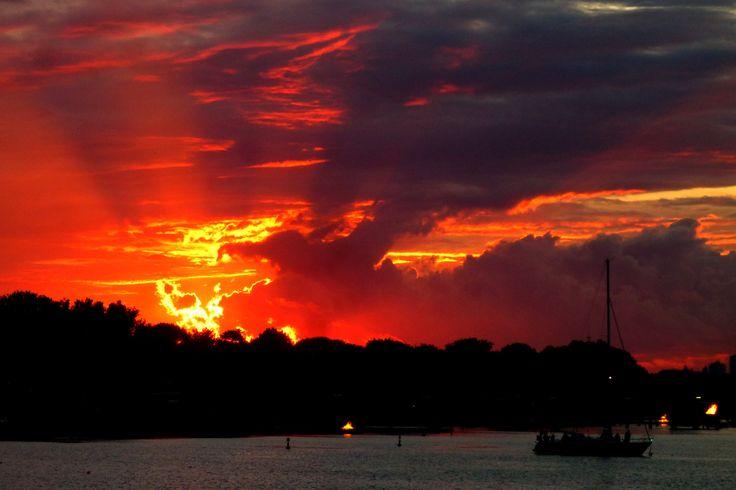 Dramatic Sunset over Amager on Skt.Hans evening.