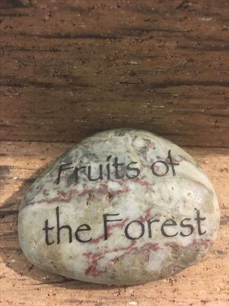 River stones were used for displaying names of appetizers at the woodland-themed baby shower.