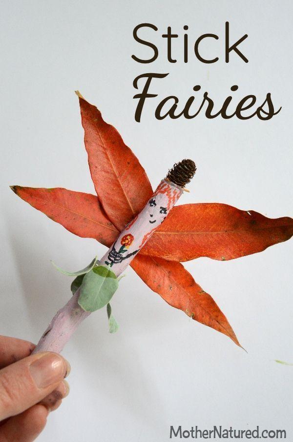 Make some gorgeous fairies made using sticks! #naturecrafts