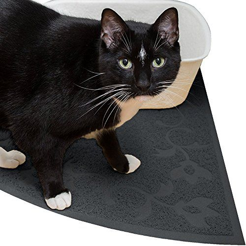 Jumbo Corner Cat Litter Mat ( Slate Gray ) - Best for Corner and Large Litter Boxes - 100% BPA Free and Safe Litter Catcher 30' X 30' *** More info @