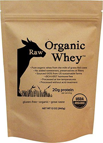 Raw Organic Whey - USDA Certified Organic Whey Protein Concentrate, 12oz - JUST whey