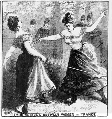 'The Duel between Women in France', Illustrated Police News, 10/4/1886