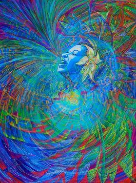 """Saatchi Art Artist Lola Lonli; Painting, """"Billie sings. Billie loves. Billie is happy"""" #art"""