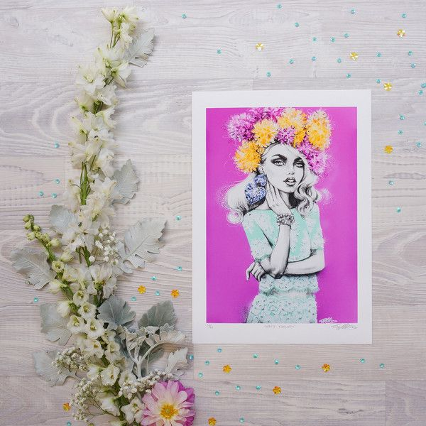 'Haute hyacinth' print by fashion illustrator Pippa McManus. Available from www.pippamcmanus.com Flatlay by @ahoycapnmueller