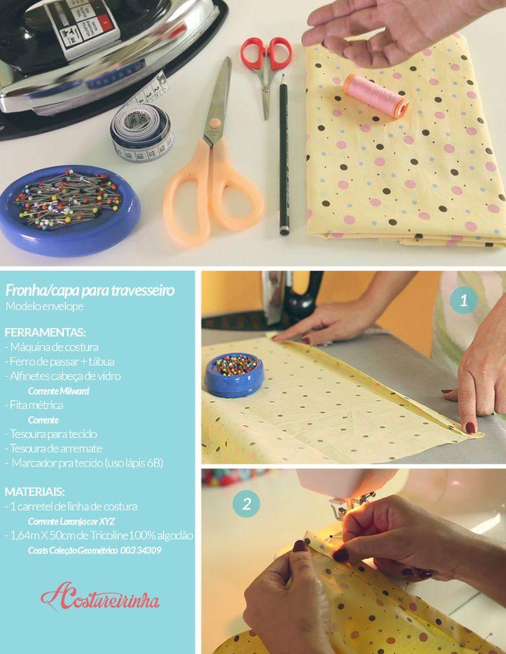 Agulha de ouro Ateliê: Descomplica! Aprenda a costurar uma fronha ou capa para travesseiro pass...