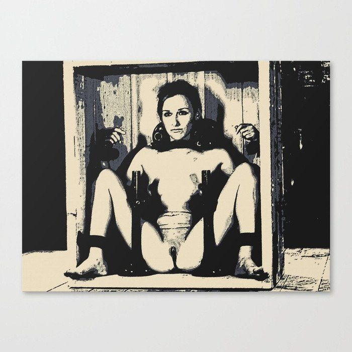 Hard #Erotic #Art #Canvas #Print - Home delivery, erotic #slave #girl tied, sexy #BDSM artwork #bondage #fetish