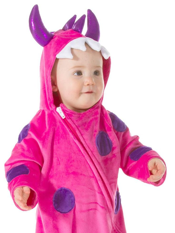 Klein Monster Roze - Baby Kostuum | Party City