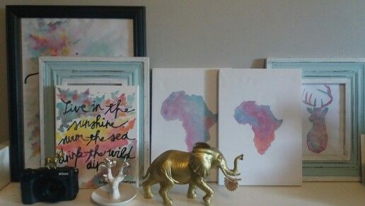 Watercolor paintings for your workspace