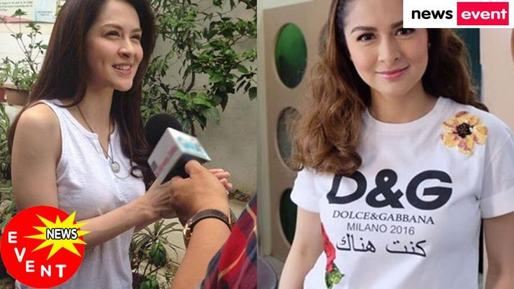 Marian Rivera Finally Speaks up Abou the Fake D&G Shirt Issue 'T shirt l...